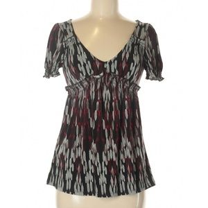 BCBGMAXAZRIA Short Sleeve Blouse